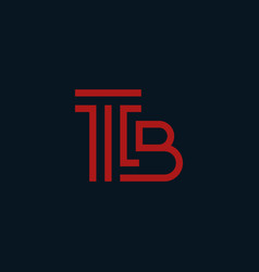 Letter b attorney law creative business logo vector