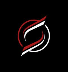 letter s circle minimalist business logo design vector image