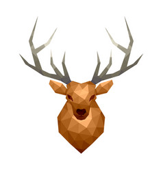 low poly deer isolated on white vector image