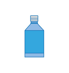 medical bottle plastic fill icon blue vector image