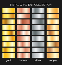 Metallic gradations set vector