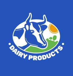 Milk farm logo vector