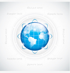 modern globe connections network design vector image