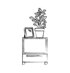 Monochrome blurred silhouette of decorative vector