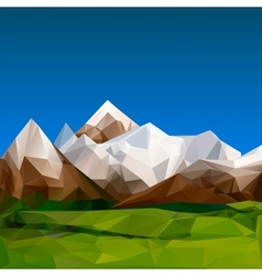 Mountainous terrain polygonal background vector