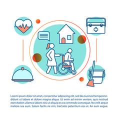 Nursing service concept linear vector