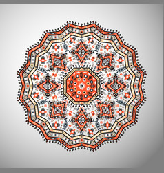 ornamental round colorful geometric pattern vector image