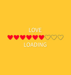 progress status bar icon love loading collection vector image