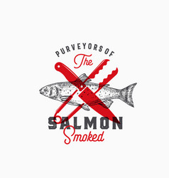 Purveyors of the smoked salmon abstract vector