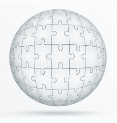 puzzle world in the form a sphere vector image