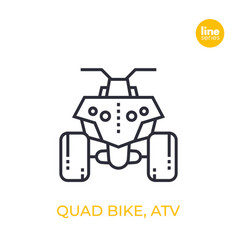 Quad bike all terrain vehicle atv linear icon vector