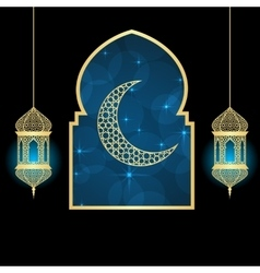 Ramadan greating card vector