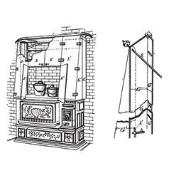 Range ventilation vintage vector