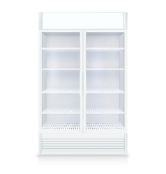 Realistic Empty Freezer vector