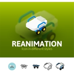 Reanimation icon in different style vector image