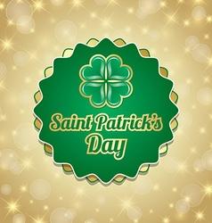 Saint Patricks Day badge vector image