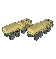 sand military vehicle on white background vector image