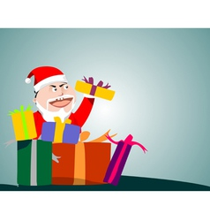 Santa Claus holding gifts vector image