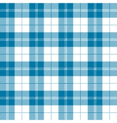 Seamless tartan plaid pattern in tealish blue and vector