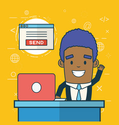 send email related vector image
