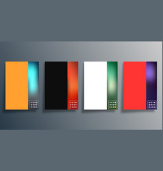 set abstract gradient design cover vector image