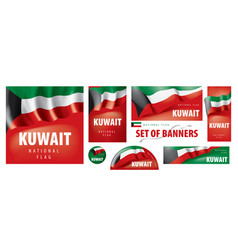 Set banners with national flag vector