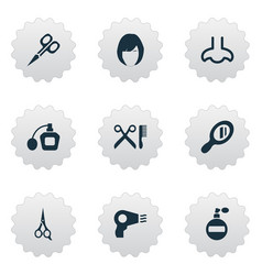Set simple salon icons vector