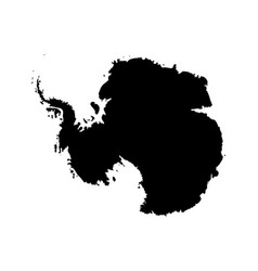 Silhouette map af antarctica high detailed black vector