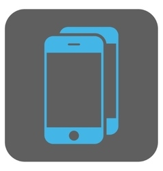 Smartphones Rounded Square Icon vector image