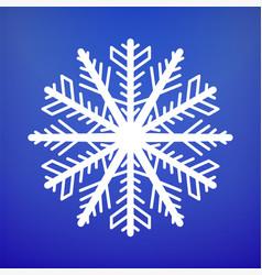 snowflake icon christmas and winter theme vector image