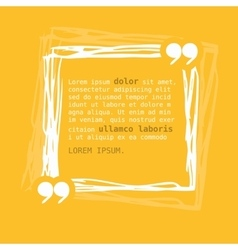 Square frame with quote on yellow background vector
