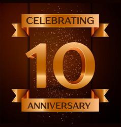 ten years anniversary celebration design vector image