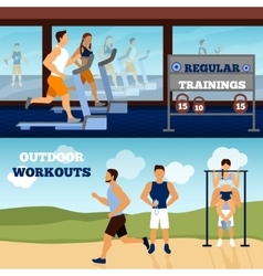 Trainer Banner Set vector image