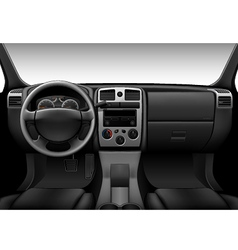 Truck interior - inside view of car dashboard vector