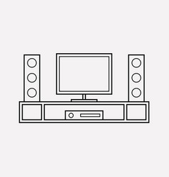tv system icon line element vector image
