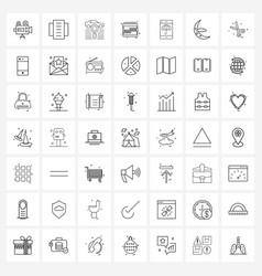 Universal symbols 49 modern line icons vector