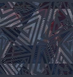 urban color geometric maze pattern vector image