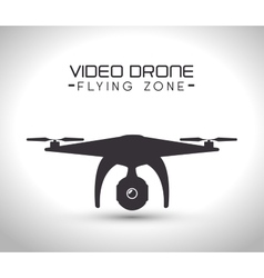 video drone technology isolated icon design vector image