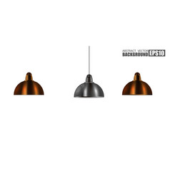 Vintage metallic stylish hang ceiling cone lamp vector