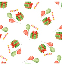 Watercolor seamless pattern for holiday vector image