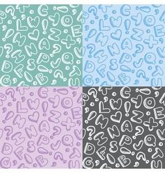 alphabet patterns vector image vector image