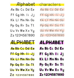 alphabet white background vector image vector image
