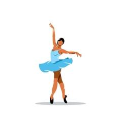 Ballerina sign vector image vector image