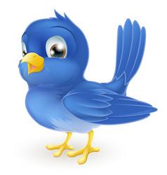 cute cartoon bluebird vector image vector image