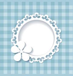 floral frame on the blue pattern vector image