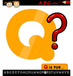 letter q with question mark vector image