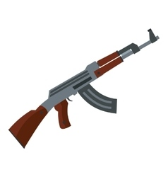 Submachine gun icon flat style vector