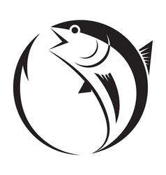 symbol tuna and hook vector image vector image