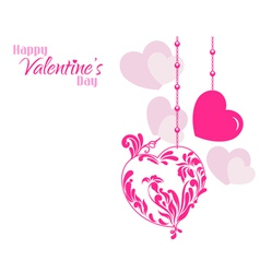 Valentine Designer Hearts Background vector image vector image