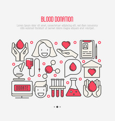 blood donation concept for web page vector image vector image